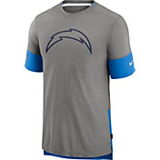 Nike Men's Los Angeles Chargers Grey Sideline Player T-Shirt