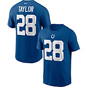Nike Men's Indianapolis Colts Jonathan Taylor #28 Gym Blue T-Shirt