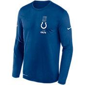 Nike Men's Indianapolis Colts Sideline Legend Travel Long Sleeve T-Shirt