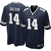 Nike Men's Dallas Cowboys Andy Dalton #14 Home Navy Game Jersey