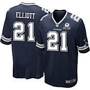 Nike Men's Dallas Cowboys Ezekiel Elliott #21 60th Anniversary Navy Game Jersey