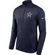 Nike Men's Dallas Cowboys Element Navy Quarter-Zip Top