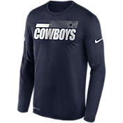 Nike Men's Dallas Cowboys Legend Sideline Navy Long Sleeve Shirt