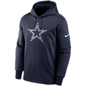 Nike Men's Dallas Cowboys Therma Logo Navy Hoodie