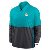 Nike Men's Miami Dolphins Sideline Dri-Fit Coach Jacket
