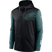 Nike Men's Philadelphia Eagles Color Block Logo Full-Zip Black Hoodie