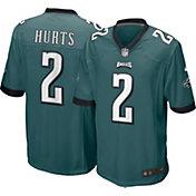 Nike Men's Philadelphia Eagles Jalen Hurts #2 Green Game Jersey