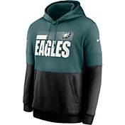 Nike Men's Philadelphia Eagles Sideline Lock Up Pullover Teal Hoodie
