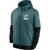 Nike Men's Philadelphia Eagles Sideline Lock Up Full-Zip Teal Hoodie