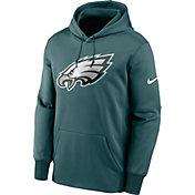 Nike Men's Philadelphia Eagles Sideline Therma-FIT Teal Pullover Hoodie