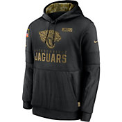 Nike Men's Salute to Service Jacksonville Jaguars Black Therma-FIT Pullover Hoodie