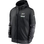 Nike Men's New York Jets Sideline Lock Up Full-Zip Black Hoodie