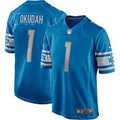 Nike Men's Detroit Lions Jeff Okudah #30 Blue Game Jersey