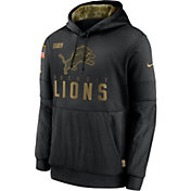 Nike Men's Salute to Service Detroit Lions Black Therma-FIT Pullover Hoodie