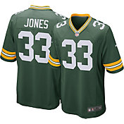 Nike Men's Green Bay Packers Aaron Jones #33 Home Green Game Jersey