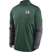 Nike Men's Green Bay Packers Sideline Coach Performance Green Half-Zip Pullover