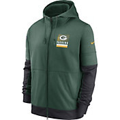 Nike Men's Green Bay Packers Sideline Lock Up Full-Zip Green Hoodie