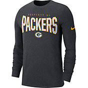 Nike Men's Green Bay Packers Sideline Property Of Long Sleeve Charcoal Shirt