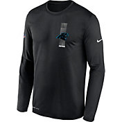 Nike Men's Carolina Panthers Sideline Legend Travel Black Long Sleeve Shirt