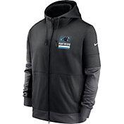 Nike Men's Carolina Panthers Sideline Lock Up Full-Zip Black Hoodie