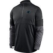 Nike Men's Carolina Panthers Sideline Coach Performance Black Half-Zip Pullover