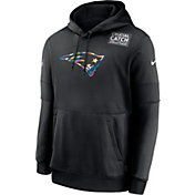 Nike Men's New England Patriots Crucial Catch Logo Black Hoodie