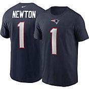 Nike Men's New England Patriots Cam Newton #1 Navy T-Shirt
