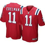Nike Men's New England Patriots Julian Edelman #11 Red Game Jersey