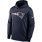 Nike Men's New England Patriots Sideline Therma-FIT Navy Pullover Hoodie