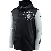 Nike Men's Las Vegas Raiders Color Block Logo Full-Zip Black Hoodie