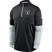 Nike Men's Las Vegas Raiders Sideline Coach Performance Black Half-Zip Pullover