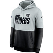 Nike Men's Las Vegas Raiders Sideline Lock Up Pullover Silver Hoodie