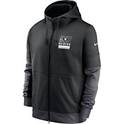 Nike Men's Las Vegas Raiders Sideline Lock Up Full-Zip Black Hoodie
