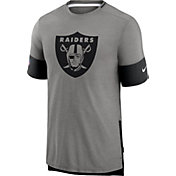 Nike Men's Las Vegas Raiders Grey Sideline Player T-Shirt