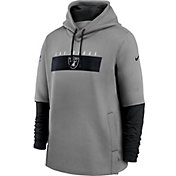 Nike Men's Las Vegas Raiders Grey Sideline Therma-FIT Heavy Hoodie