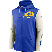 Nike Men's Los Angeles Rams Color Block Logo Full-Zip Hoodie