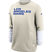 Nike Men's Los Angeles Rams Sideline Coaches Crew Sweatshirt
