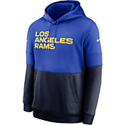 Nike Men's Los Angeles Rams Sideline Lock Up Pullover Hoodie