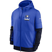 Nike Men's Los Angeles Rams Blue Sideline Lock Up Full-Zip Hoodie