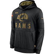 Nike Men's Salute to Service Los Angeles Rams Black Therma-FIT Pullover Hoodie