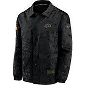 Nike Men's Salute to Service Los Angeles Rams Black Jacket
