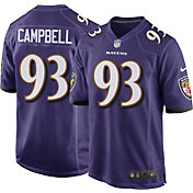 Nike Men's Baltimore Ravens Calais Campbell #93 Home Purple Game Jersey