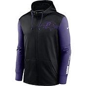 Nike Men's Baltimore Ravens Color Block Logo Full-Zip Black Hoodie
