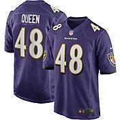 Nike Men's Baltimore Ravens Patrick Queen Home Purple Game Jersey