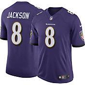 Nike Men's Baltimore Ravens Lamar Jackson #8 Purple Limited Jersey