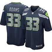 Nike Men's Seattle Seahawks Jamal Adams #33 Home Navy Game Jersey