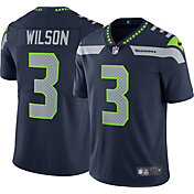 Nike Men's Seattle Seahawks Russell Wilson #3 Home Navy Limited Jersey