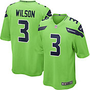 Nike Men's Seattle Seahawks Russell Wilson #3 Color Rush Game Jersey