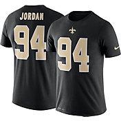 Nike Men's New Orleans Saints Cameron Jordan #94 Logo Black T-Shirt