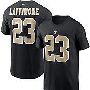 Nike Men's New Orleans Saints Marshon Lattimore #23 Legend Black T-Shirt